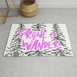 Prone to Wander - Hot Pink Rug