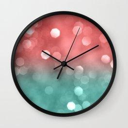 Summer Vibes Bokeh #1 #shiny #decor #art #society6 Wall Clock