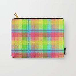 Rainbow Plaid Carry-All Pouch