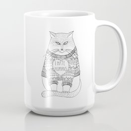 I hate humans. Coffee Mug