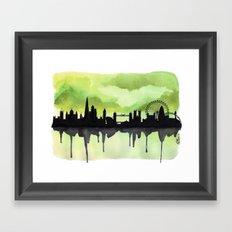 London Skyline 2 Lime Framed Art Print