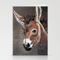 donkey Stationery Cards featuring Donkey by albinosquid
