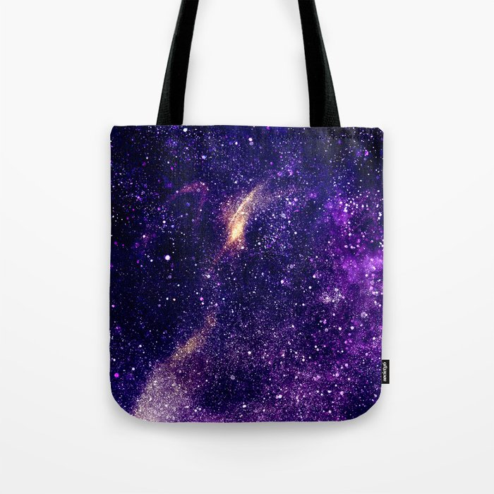 Ultra violet purple abstract galaxy Tote Bag