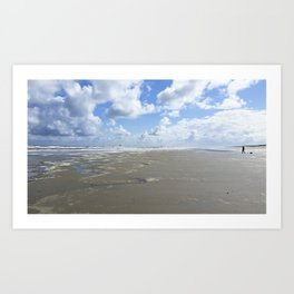 Cloudy seascape panorama Art Print