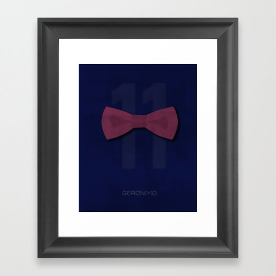 Minimal Eleven Framed Art Print