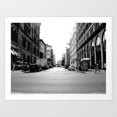 New York crosswalk Art Print