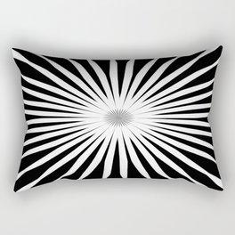 Starburst Black and White Pattern Rectangular Pillow
