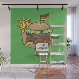 Hitchhiking for home Wall Mural