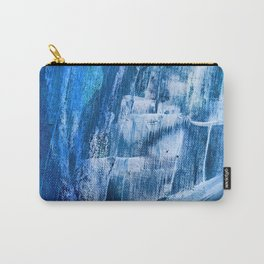 Cerulean [5]: a vibrant blue abstract with texture and layers Carry-All Pouch