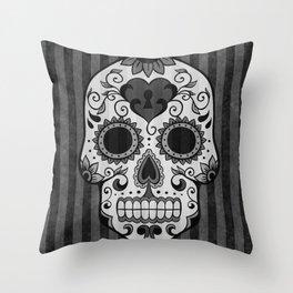 Día de los Muertos - Grey Throw Pillow