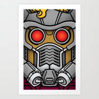 star lord Art Prints featuring Star Lord by Ryan the Foe
