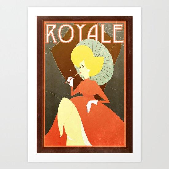 Retro french poster Art Print
