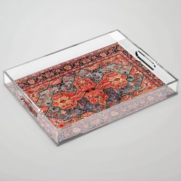 Kashan Poshti Central Persian Rug Print Acrylic Tray