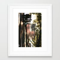 american flag Framed Art Prints featuring American Flag by Shy Photog