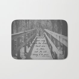 Psalm 37:5 Commit Bath Mat