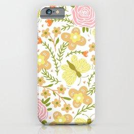 modern floral iPhone Case