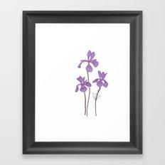 Iris Purple Flower Framed Art Print