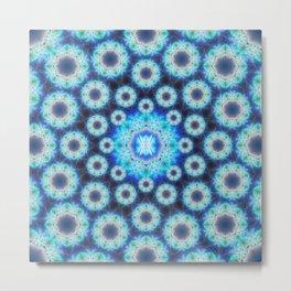 Cosmic Light Pattern Mandala Metal Print