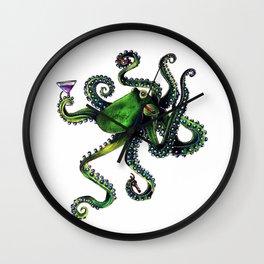 Happy Hour Octopus Wall Clock