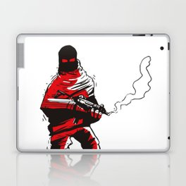 Death wears a track suit Laptop & iPad Skin