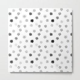 Brushmark Polka Dot Metal Print