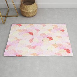 Carnation background wallpaper Rug
