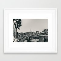 seoul Framed Art Prints featuring Seoul Cityscape by Jennifer Stinson