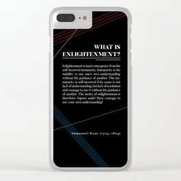 Philosophia I: What is Enlightenment? Clear iPhone Case