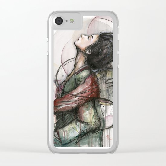 Beauty Illustration Clear iPhone Case