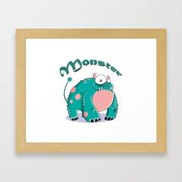 funny monster  Framed Art Print