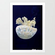 Falling Jellyfish Art Print