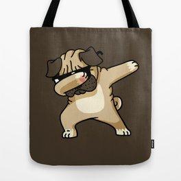 Dabbing Pug Tote Bag