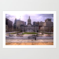 Baltimore City Hall Art Print