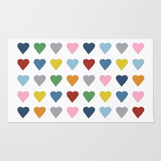 64 Hearts Rug