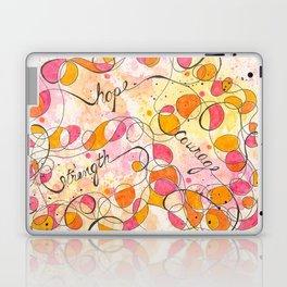 Flourish: Strength. Hope. Courage. Laptop & iPad Skin