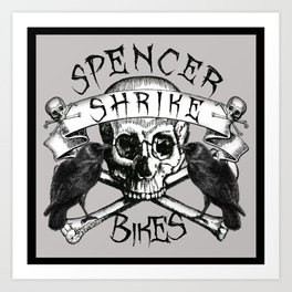 Shrike Bikes Double Raven Art Print
