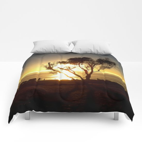 Fire and Water - a California sunset Comforters