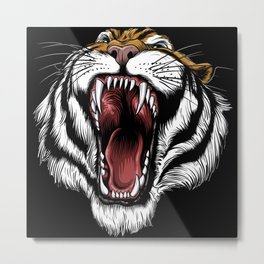 The Hungry Tiger - King of the Indian Jungle  Metal Print