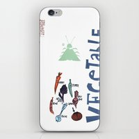 vegetable iPhone & iPod Skins featuring Vegetable Garden by june and august