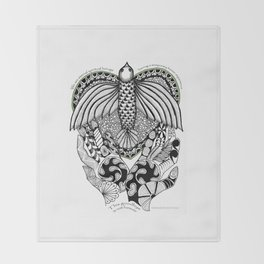This goodbye is not forever Sympathy  - Zentangle Illustration Throw Blanket