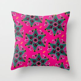 pop pattern_christmas Throw Pillow