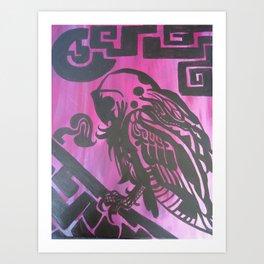 Aztec Owls Art Print