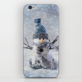 Cute snowman frozen freeze iPhone Skin