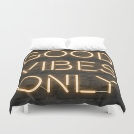 Neon Good Vibes - Orange Duvet Cover