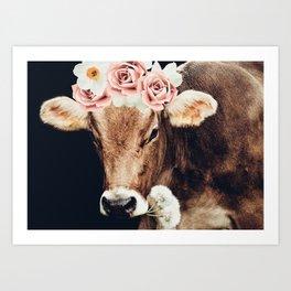 Glamour cow Art Print