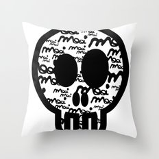 MOOIMOOI SKULL Throw Pillow