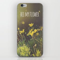 BEE MY FLOWER iPhone & iPod Skin