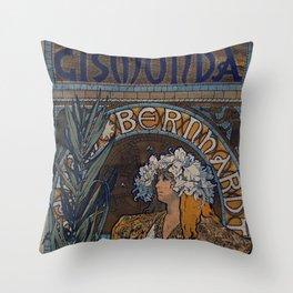 GISMONDA Alphonse Mucha 1894 Throw Pillow