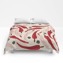 Hot chilli pattern design Comforters