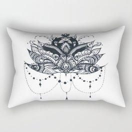 Lotus with Jewels Rectangular Pillow